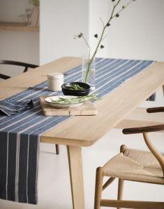 Marc O'Polo Jona Smoke Blue Tischläufer 40 x 150 cm