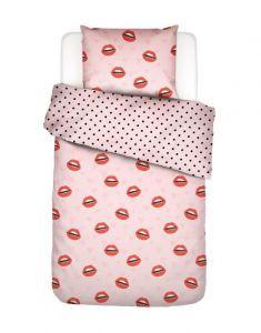 Covers & Co Kiss My Sass Rose Dekbedovertrekset 140 x 220 cm