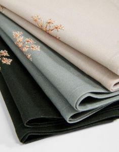 ESSENZA Lauren Stone green Serviette 45 x 45 cm
