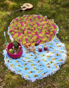 Covers & Co Lemons Multi Strandhandtuch 150 cm rond
