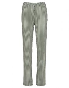 ESSENZA Lindsey Striped Lauriergroen Lange broek L