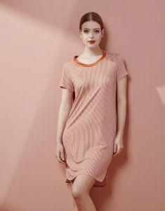 ESSENZA Loreen Striped Ginger Nachtjapon M