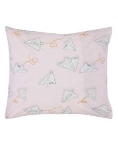 Covers & Co Loveletter Rose/grey Kussensloop 60 x 70 cm