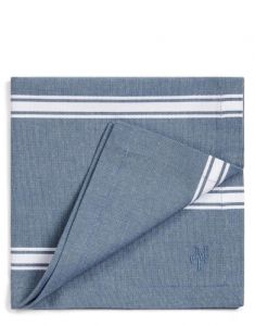 Marc O'Polo Lovon Smoke Blue Serviette 45 x 45 cm