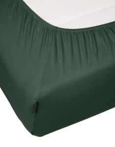Marc O'Polo Marc O'Polo Jersey Forest green Hoeslaken 140-160 x 200-220 cm