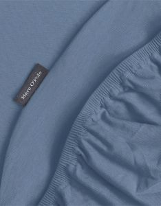 Marc O'Polo Marc O'Polo Jersey Smoke blue Hoeslaken 90-100 x 200-220 cm