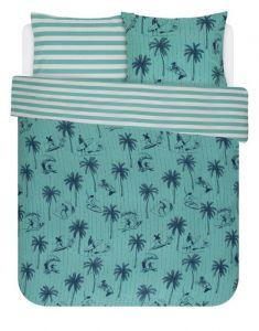 Covers & Co Miko Turquoise Dekbedovertrekset 200 x 220 cm