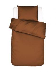 ESSENZA Minte Leather brown Dekbedovertrekset 140 x 220 cm