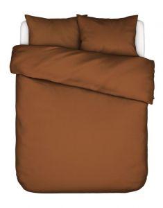 ESSENZA Minte Leather brown Dekbedovertrekset 240 x 220 cm