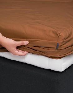 ESSENZA Minte Leather brown Hoeslaken 180 x 200 cm