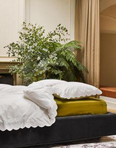 ESSENZA Minte Olive Hoeslaken 160 x 200 cm
