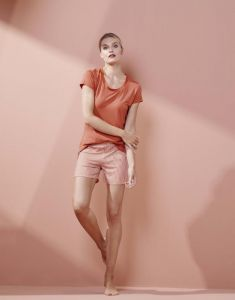 ESSENZA Natalie Striped Ginger Korte broek XS