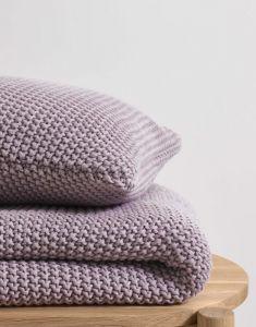 Marc O'Polo Nordic knit Lavendel mist Sierkussen 50 x 50 cm