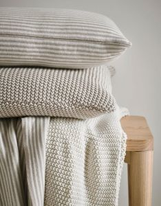 Marc O'Polo Nordic knit Oatmeal Dekokissen 50 x 50 cm