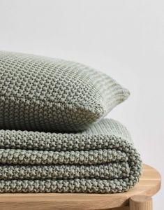 Marc O'Polo Nordic knit Garden green Sprei 130 x 170 cm