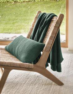 Marc O'Polo Nordic knit Grün Plaid 130 x 170 cm