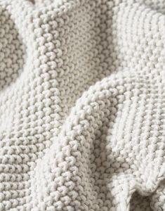 Marc O'Polo Nordic knit Off White Dekokissen 50 x 50 cm