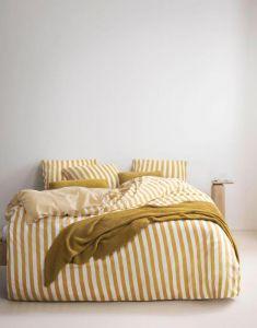 Marc O'Polo Nordic knit Oil Yellow Plaid 130 x 170 cm