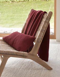 Marc O'Polo Nordic knit Rot Plaid 130 x 170 cm