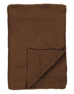 Marc O'Polo Nordic knit Toffee brown Plaid 130 x 170 cm