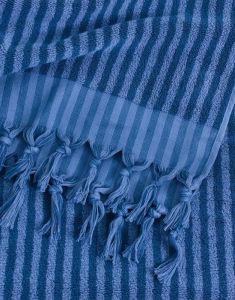 Marc O'Polo Nurmes Blauw Strandlaken 100 x 180 cm