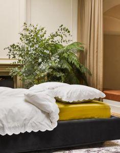 ESSENZA Premium Jersey Olive Hoeslaken 180-200 x 200-220 cm