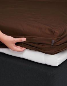 ESSENZA Premium Percale Chocolate Spannbettlaken 180 x 210 cm