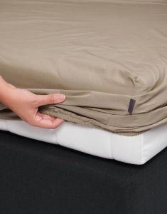ESSENZA Premium Percale Clay Spannbettlaken 160 x 210 cm