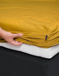 ESSENZA Premium Percale Senfgelb Spannbettlaken 180 x 200 cm