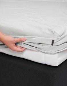 ESSENZA Premium Percale Silver Spannbettlaken 160 x 210 cm