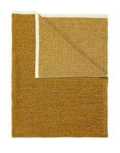 Marc O'Polo Rivar Golden yellow Plaid 130 x 170 cm