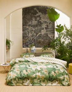ESSENZA Rosalee Basilicumgroen Dekbedovertrekset 240 x 220 cm