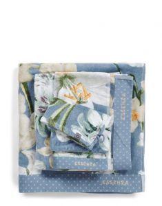 ESSENZA Rosalee Blau Handtuch 55 x 100 cm