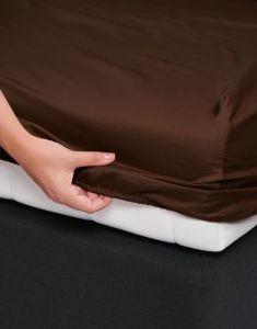 ESSENZA Satin Chocolate Spannbettlaken 140 x 200 cm