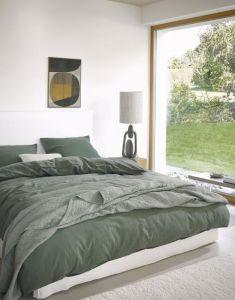 Marc O'Polo Senja Groen Dekbedovertrekset 140 x 220 cm