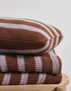 Marc O'Polo Structure knit Toffeebruin Sierkussen 30 x 50 cm