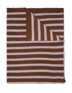 Marc O'Polo Structure knit Toffee brown Plaid 130 x 170 cm