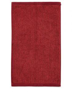 Marc O'Polo Timeless Tone Stripe Deep Rose / Warm Red Gästetuch 30 x 50 cm