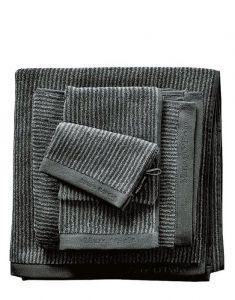 Marc O'Polo Timeless Tone Stripe Anthrazit / Silver Handtuch 50 x 100 cm