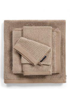 Marc O'Polo Timeless Tone Stripe Beige / Clay Handtuch 50 x 100 cm