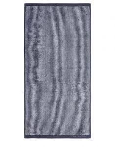 Marc O'Polo Timeless Tone Stripe Marine / Light Silver Gästetuch 30 x 50 cm