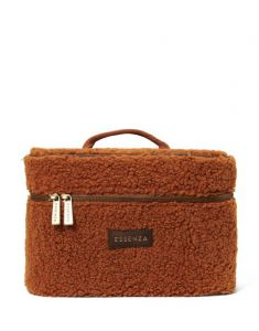 ESSENZA Tracy Teddy Leather Brown Beauty Case
