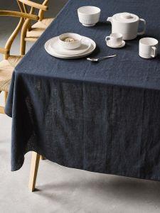 Marc O'Polo Valka Indigo blauw Tafelkleed 150 x 350 cm