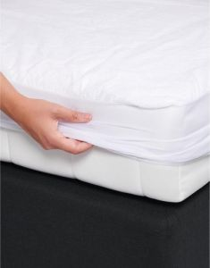 ESSENZA Waterproof 90c White Fitted sheet 140 x 200 cm