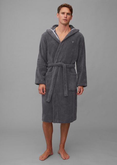 Marc O'Polo Classic (with hood) Antraciet Badjas S