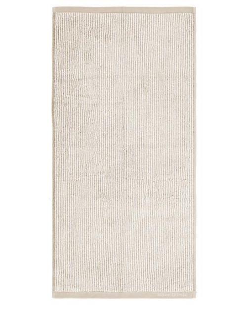 Marc O'Polo Timeless Tone Stripe Beige / Weiß Handtuch 50 x 100 cm