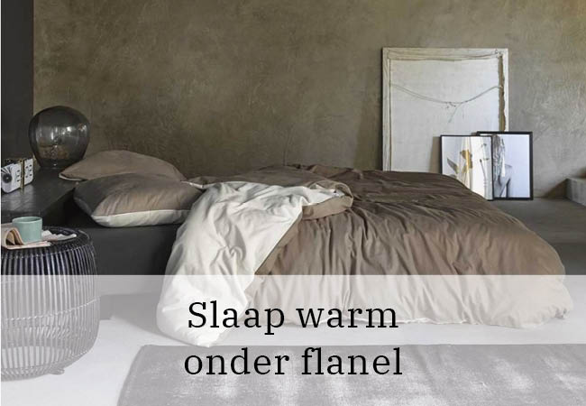Slaap warm onder flanel