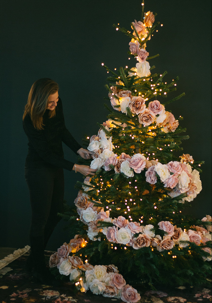 DIY Bloemenkerstboom