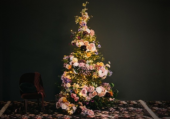 DIY Bloemenkerstboom