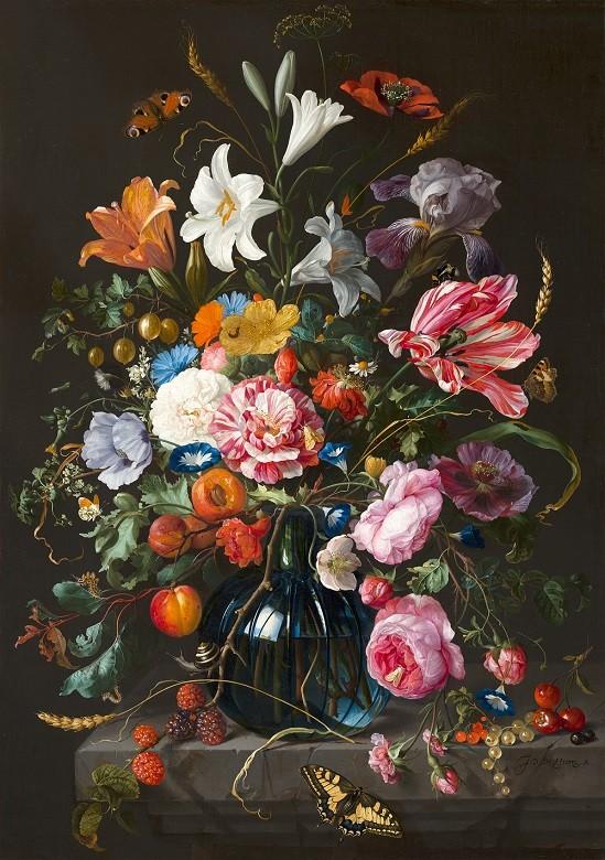 'Vaas met bloemen' van Jan Davidsz de Heem (1670)